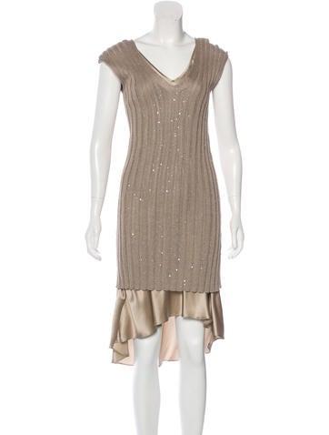 Brunello Cucinelli Sleeveless Sweater Dress None