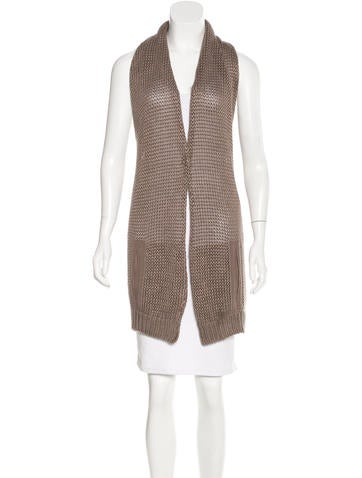 Brunello Cucinelli Halter Rib Knit Cardigan None