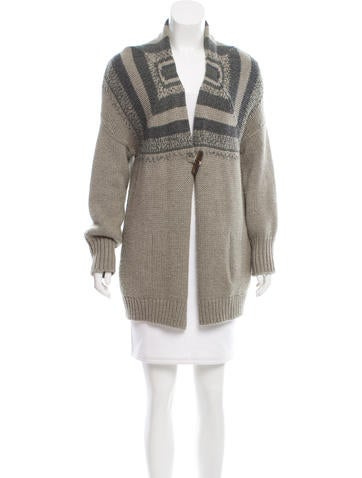 Brunello Cucinelli Pattered Cashmere & Silk-Blend Cardigan None