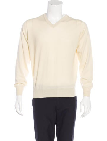Brunello Cucinelli Wool V-Neck Sweater w/ Tags None