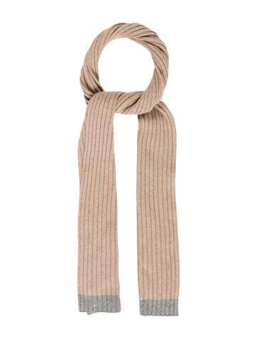 Brunello Cucinelli Cashmere Rib Knit Scarf None