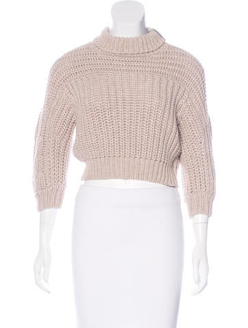 Brunello Cucinelli Cropped Turtleneck Sweater None