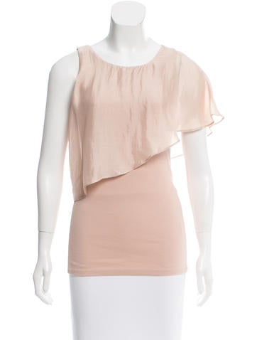 Brunello Cucinelli Sleeveless Satin-Paneled Top None