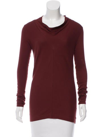 Brunello Cucinelli Cowl Neck Long Sleeve Top w/ Tags None