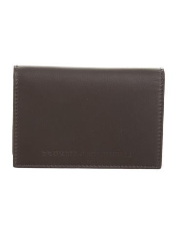Brunello Cucinelli Leather Bifold Card Case w/ Tags