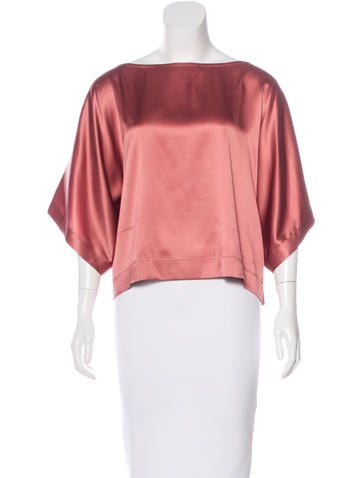 Brunello Cucinelli Silk Three-Quarter Sleeve Blouse None