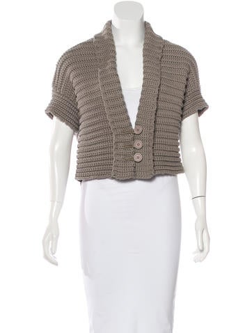 Brunello Cucinelli Rib Knit Cropped Cardigan None