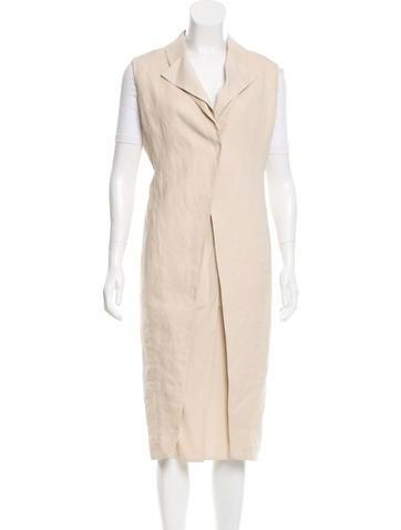 Brunello Cucinelli Silk-Trimmed Longline Vest None