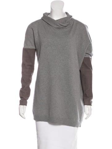 Brunello Cucinelli Suede-Paneled Cashmere Sweater None