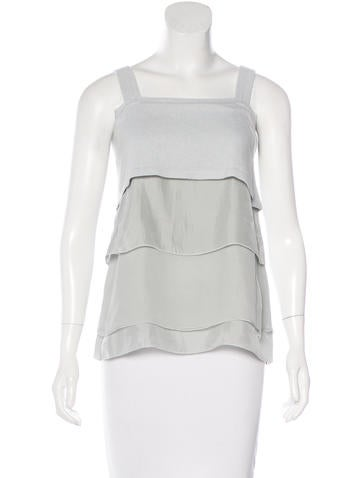 Brunello Cucinelli Tiered Sleeveless Top None