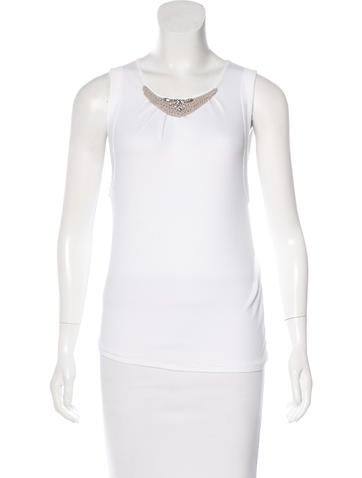 Brunello Cucinelli Embellished Sleeveless Top None