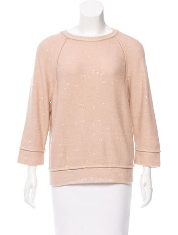 Brunello Cucinelli Sequin-Embellished Cashmere Sweater None