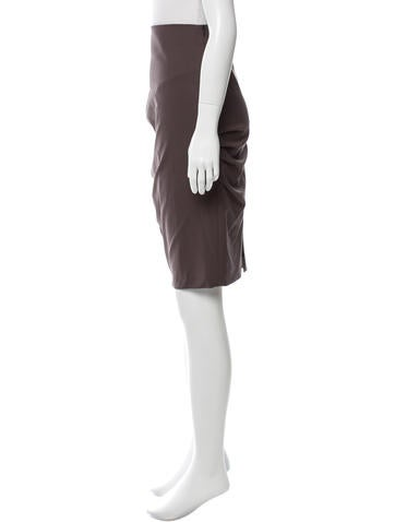 brunello cucinelli wool gathered pencil skirt clothing