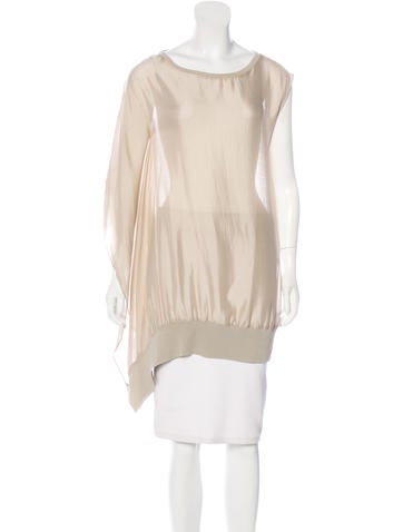 Brunello Cucinelli Sheer Silk Top None