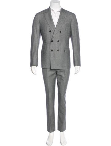 Wool Houndstooth Suit w/ Tags