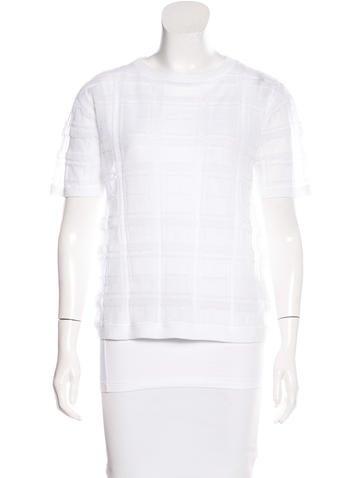 Brunello Cucinelli Textured Short Sleeve Top None
