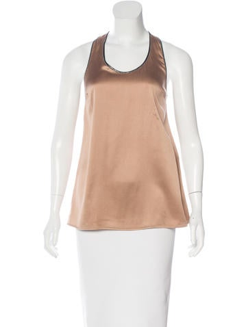 Brunello Cucinelli Silk Monili-Trimmed Top None