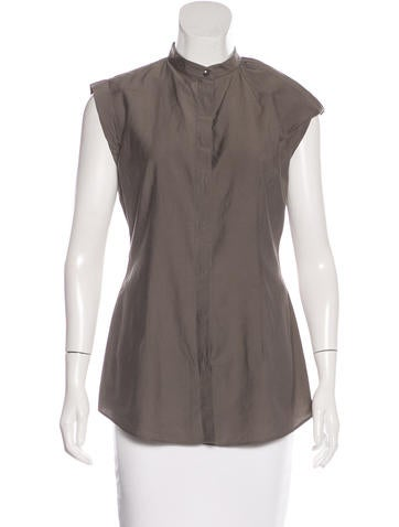 Brunello Cucinelli Sleeveless Button-Up Top None