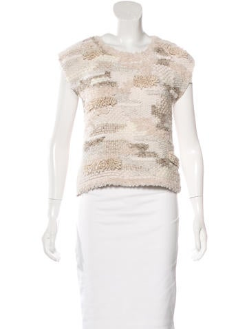 Brunello Cucinelli 2016 Embellished Cashmere Top w/ Tags None