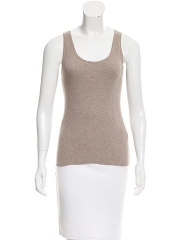 Brunello Cucinelli Knit Monili-Trimmed Top None