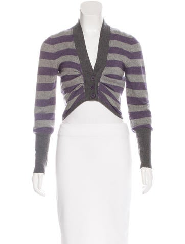 Brunello Cucinelli Striped Cashmere Cardigan None