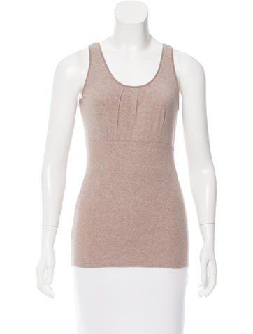 Brunello Cucinelli Sleeveless Rib Knit Top None
