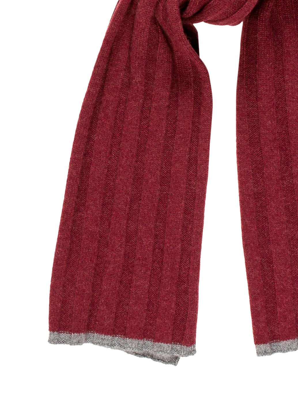 Brunello Cucinelli Cashmere Rib-Knit Scarf - Accessories - BRU42970 The Rea...
