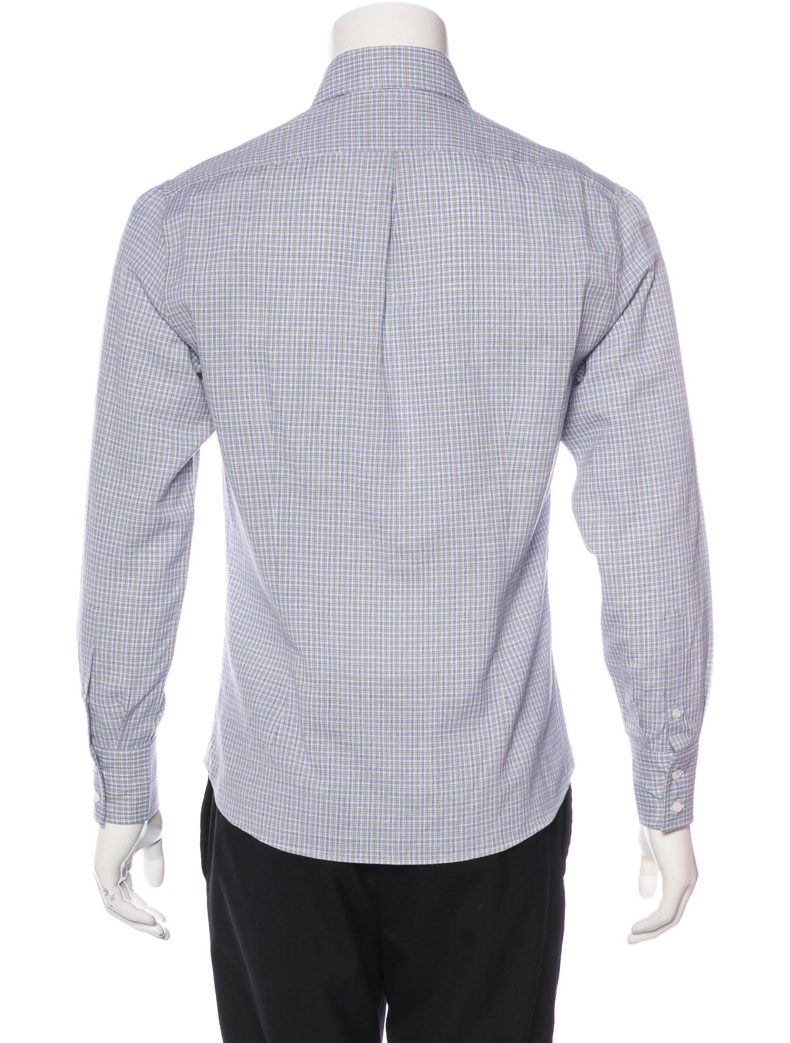 Brunello cucinelli slim fit check shirt w tags clothing for Slim fit check shirt