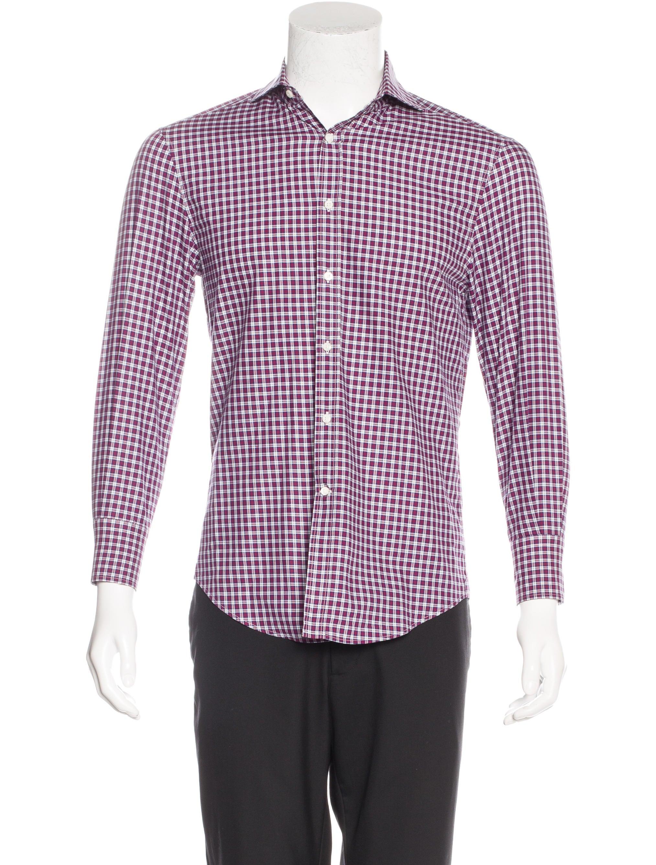 Brunello Cucinelli Slim Fit Check Shirt Clothing