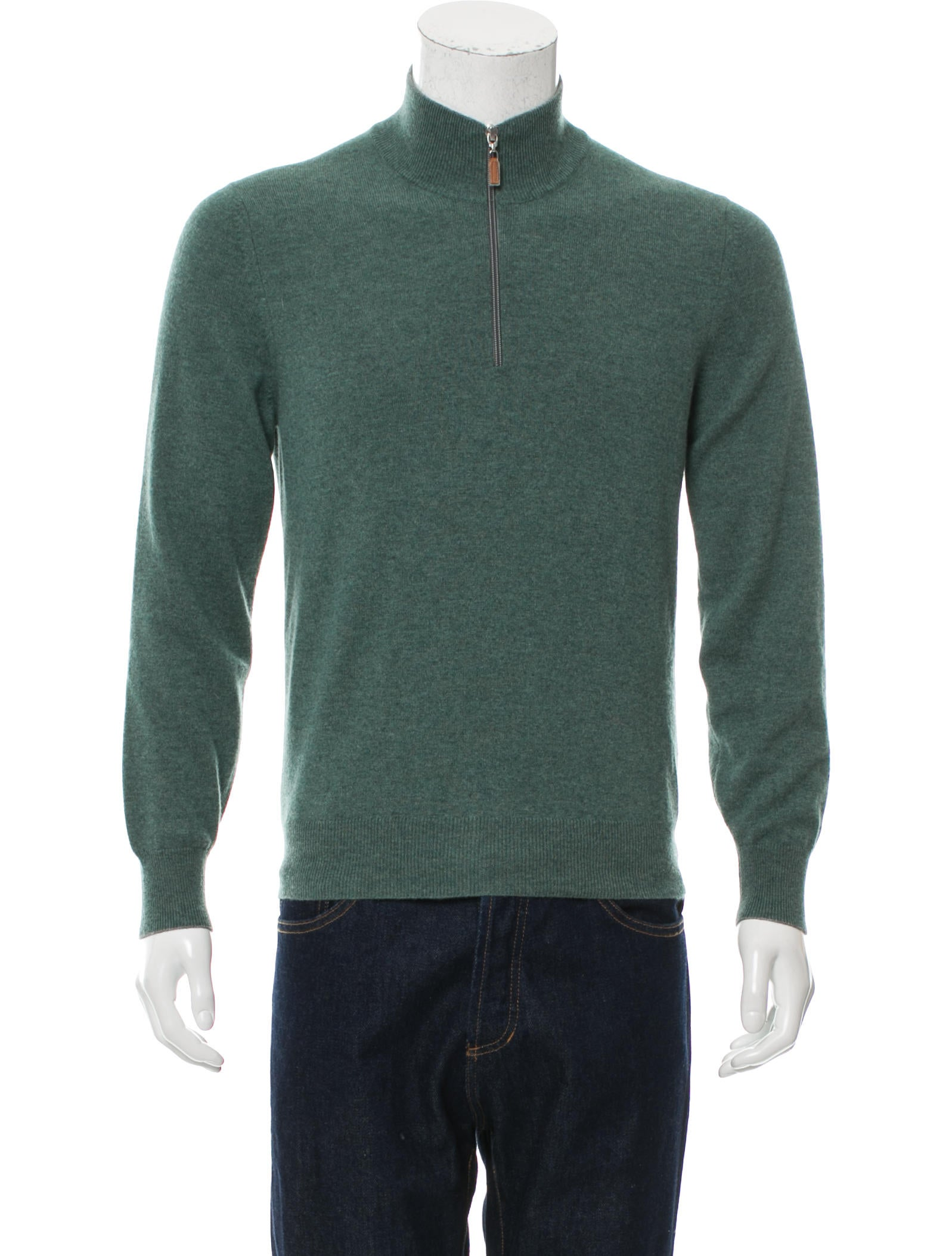 Brunello Cucinelli Cashmere Half-Zip Sweater - Clothing - BRU43586 | The RealReal