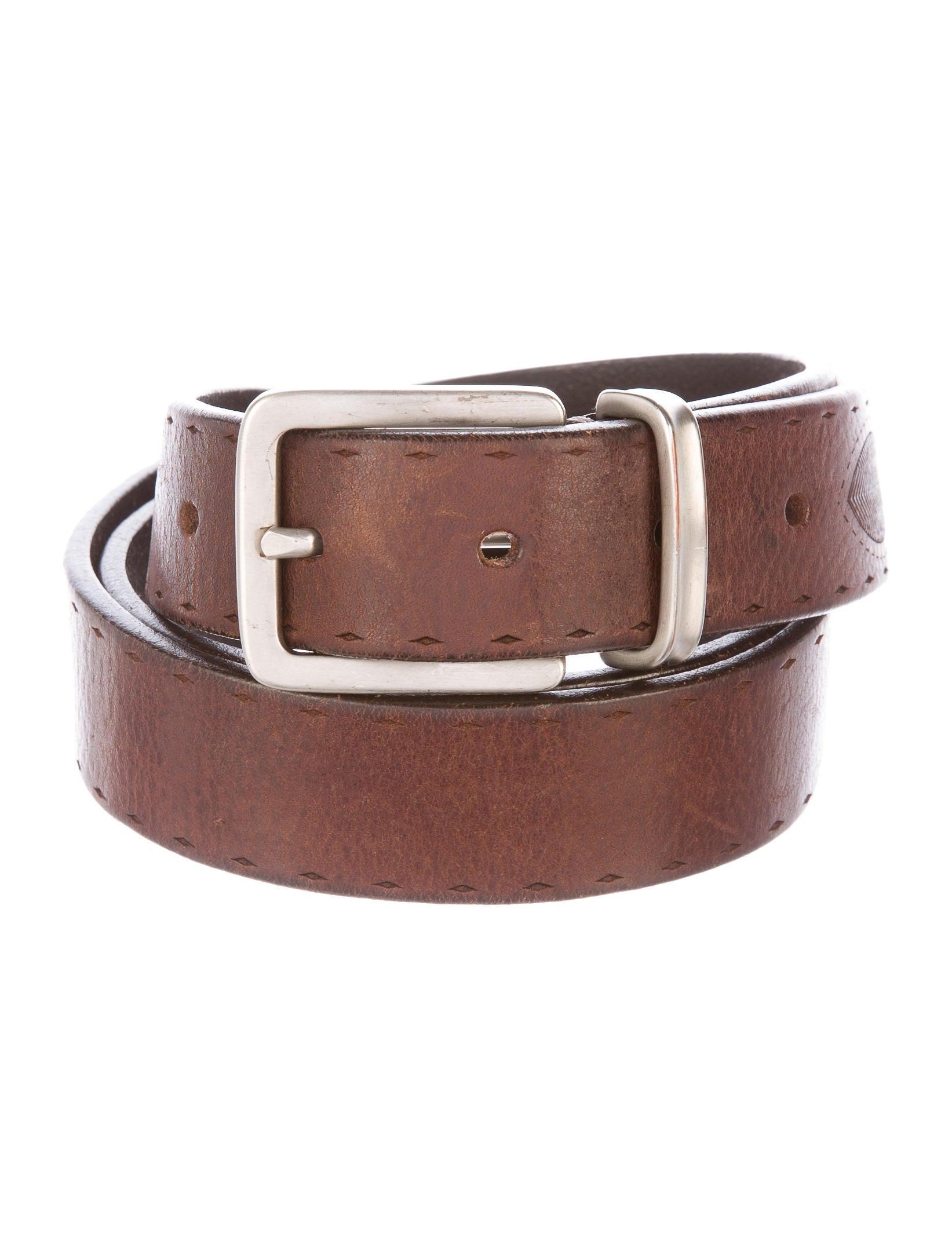 brunello cucinelli leather dress belt accessories