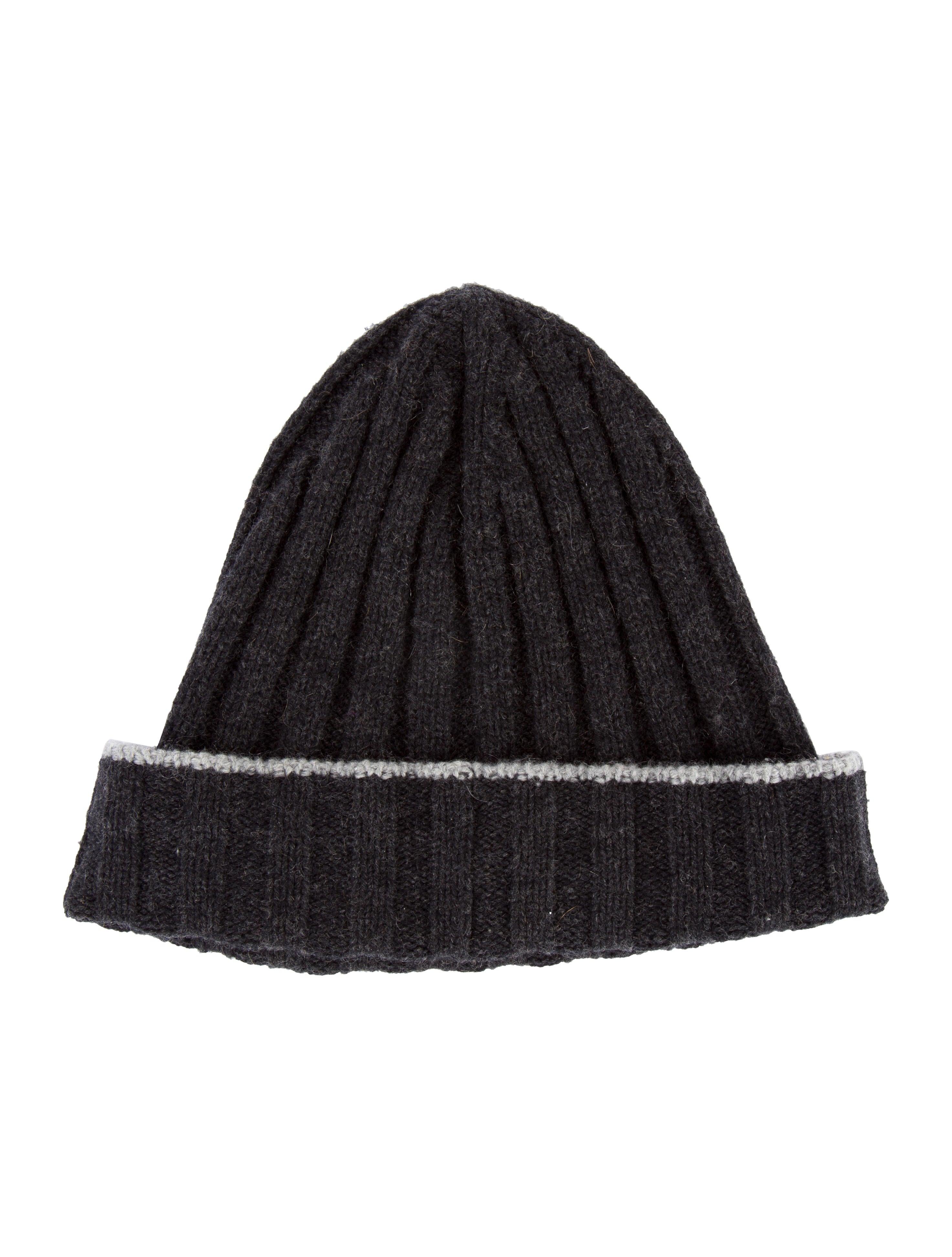Knitting Pattern For Cashmere Beanie : Brunello Cucinelli Cashmere Rib Knit Beanie - Accessories ...
