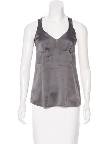 Brunello Cucinelli Sleeveless Silk Top None