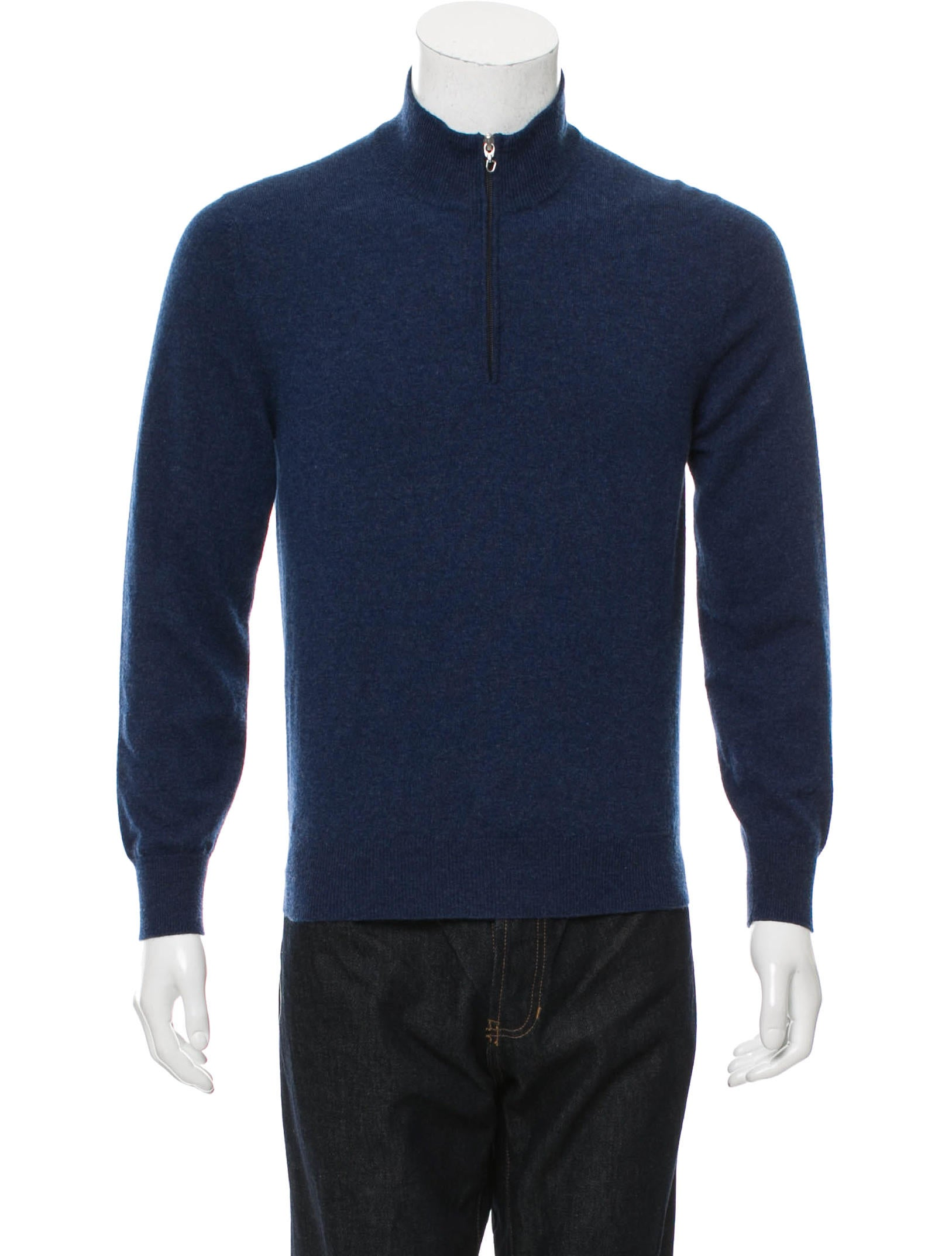 Brunello Cucinelli Cashmere Half-Zip Sweater - Clothing - BRU44206 | The RealReal