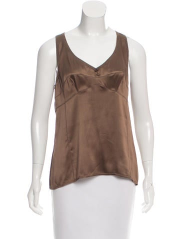 Brunello Cucinelli Cashmere & Silk-Blend Sleeveless Top None