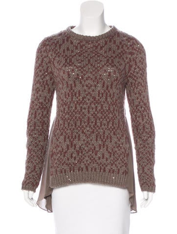 Brunello Cucinelli Silk-Trimmed Cashmere Sweater None