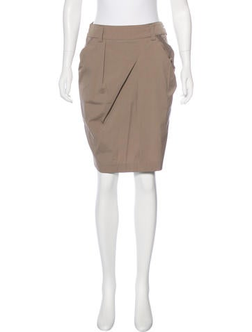 Brunello Cucinelli Asymmetrical Knee-Length Skirt None