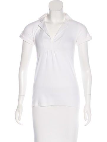 Brunello Cucinelli V-Neck Short Sleeve Top None