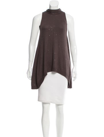 Brunello Cucinelli Embellished Wool Sweater w/ Tags None