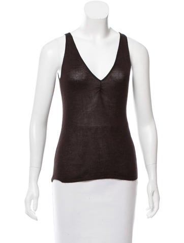 Brunello Cucinelli Sleeveless Cashmere Top None