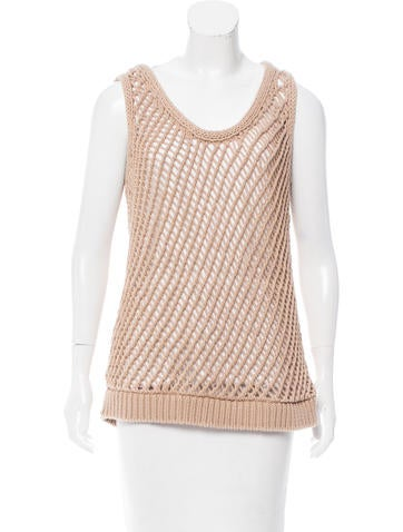 Brunello Cucinelli Knit Overlay Top None