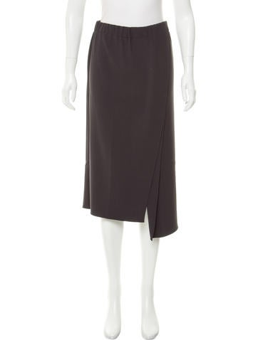Brunello Cucinelli Wool-Blend Midi Skirt None
