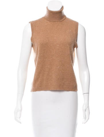 Brunello Cucinelli Sleeveless Cashmere Sweater None
