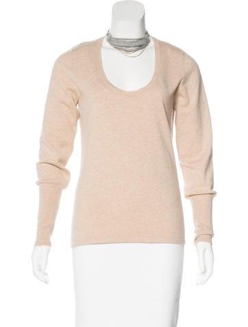 Brunello Cucinelli Monili-Trimmed Cashmere Sweater None