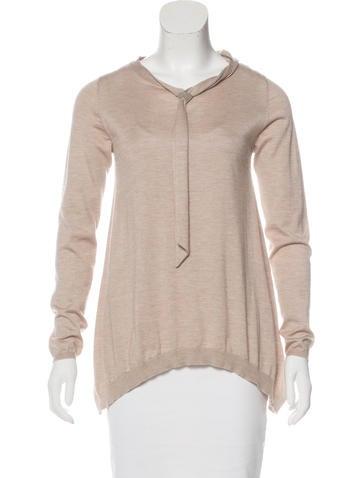 Brunello Cucinelli Cashmere & Silk-Blend Monili-Accented Sweater None