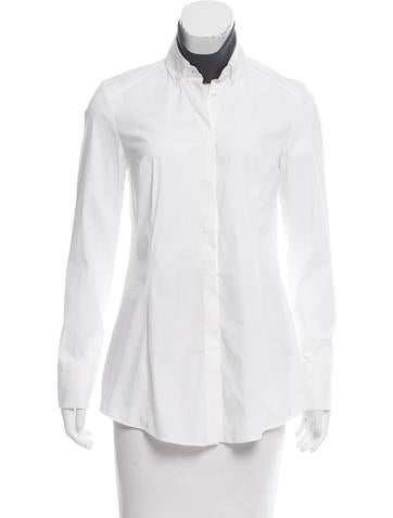Brunello Cucinelli Poplin Button-Up Top None