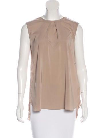 Brunello Cucinelli Silk Sleeveless Top w/ Tags None