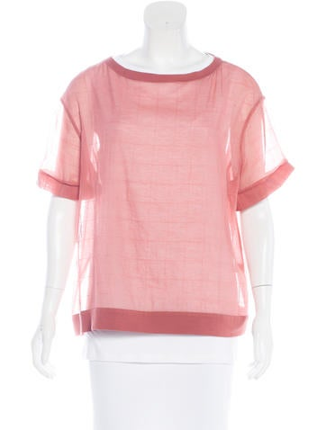 Brunello Cucinelli Short Sleeve Sheer T-Shirt None