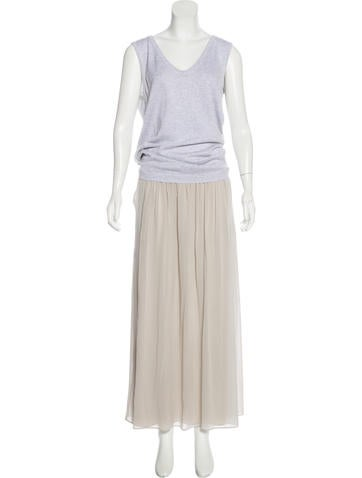 Brunello Cucinelli Sleeveless Pleated Dress w/ Tags None