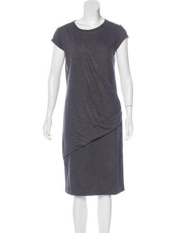 Brunello Cucinelli Wool Sleeveless Dress None